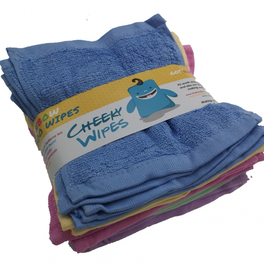 25 bamboo terry washable cloth baby wipes by Cheeky Wipes Cheeky Wipes