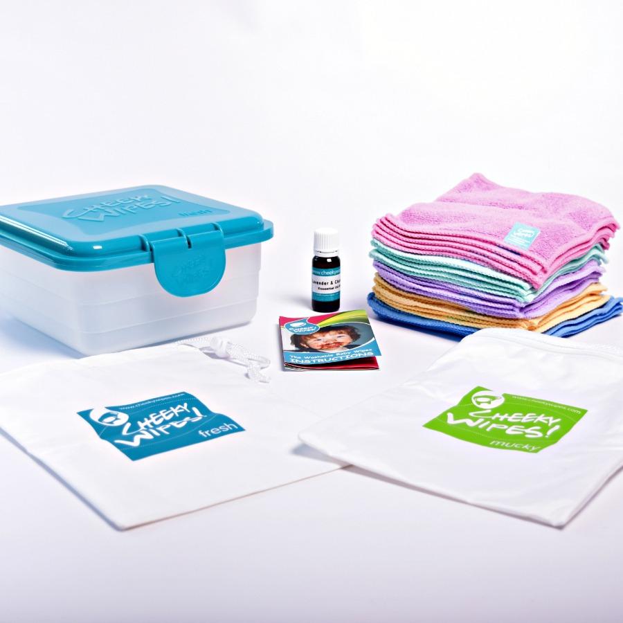 Cheeky Toallitas Manos y caras Kit de tela lavable toallitas h/úmedas