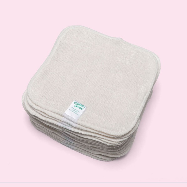 Washable Cloth NATURAL Bamboo Terry Baby Wipes
