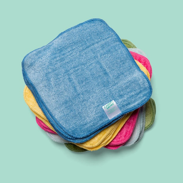 Washable Cloth Bamboo Terry Baby Wipes - RAINBOW Coloured